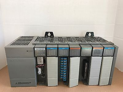 Allen-Bradley Slc 500 Power Supply 1746-P2 W/7 Slot Chassis And 7 Modules