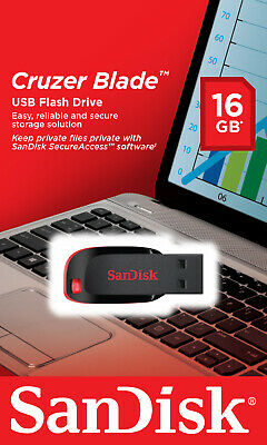 SanDisk (16GB) Cruzer Blade USB Flash Drive