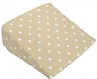 Pregnancy Wedge Pillow Cuddles Collection Dotty Back Support 100% Cotton Cream