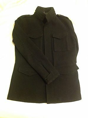 Muji Men's Military Style Field Jacket, Black Color, Size M