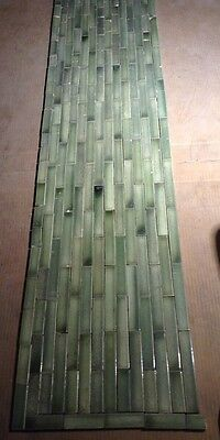Set Of Vintage Victorian ANTIQUE FIREPLACE Hearth Tile Tiles Fern Green TRENT