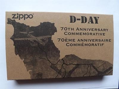 ZIPPO D-DAY 70th ANNIVERSARY LIGHTER & CRICKET LIMITED EDITION COMMEMORATIVE