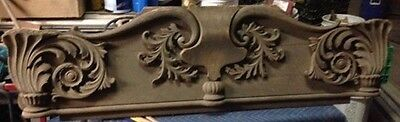 """Vintage Wood Pediment Stunning Scroll Work and Very Ornate 57"""" Long"""
