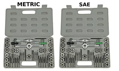 NEW 80 piece TAP AND DIE SET both SAE & METRIC + CASES