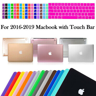 """Macbook Pro 13 15"""" Touch Bar 2016 Hard Rubberized Case Cover+Keyboard Protector"""