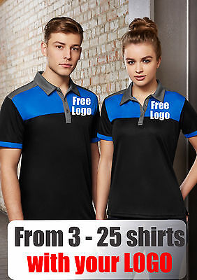 From 3 - 25 shirts Men Resort Polo with Your Embroidered LOGO (Biz P500MS)