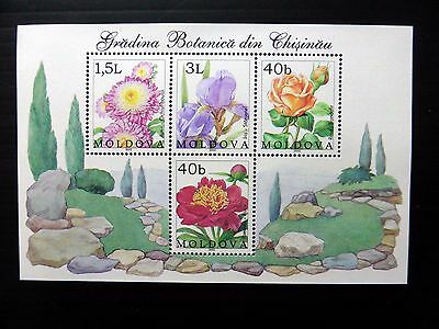MOLDOVA 2002 Flowers M/Sheet MS431 U/M NB189