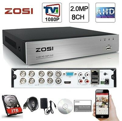 ZOSI 8CH CHANNEL Standalone H 264 2D1+6CIF CCTV Security