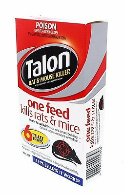 TALON RAT & MOUSE KILLER 150g - 6 Pellet Trays