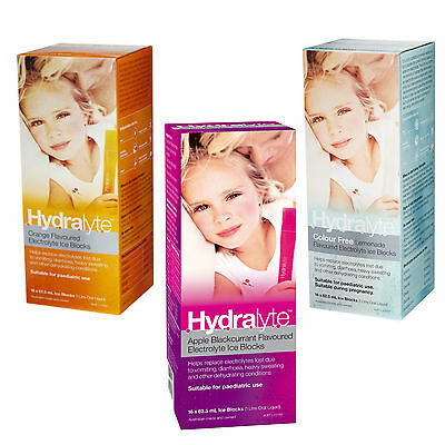 Hydralyte Flavoured Electrolyte Ice Blocks 62.5Ml 16 Pack