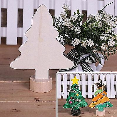 Craft wooden Tree DIY Decorate Wood Christmas trees Colouring customise (F79w)<