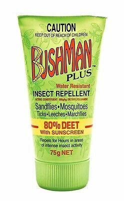 Bushman Plus Insect Repellent with Sunscreen 75g gel - Water resistant