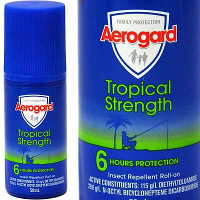 AEROGUARD Tropical Strength Insect Repellant Roll-On 50ml - 6HR Protection