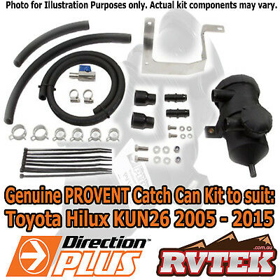 Genuine Provent Oil Catch Can Kit Fits Toyota Hilux Kun26 05-15 D4D Separator