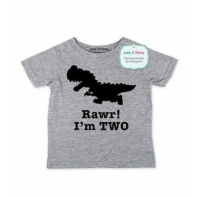 Rawr! I'm TWO - Dinosaur party 2nd Birthday Shirt Age 2 Two year Toddler Shirt