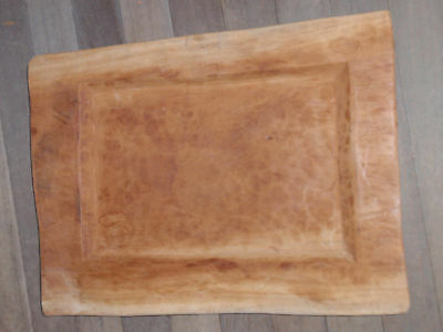 Vintage Hand Carved Wooden Tray/platter 22 X 16 1/2 Inches