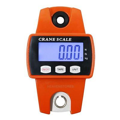 Mini Crane Scale 300kg 0.1kg Portable LCD Digital Electronic Hook Hanging Weight