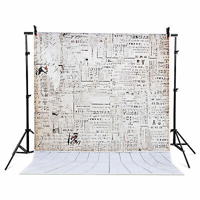5x7 ft Gradient Studio Photo Backdrop Background Wooden newspaper wall US Local