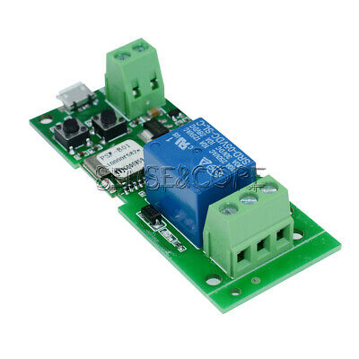 Jog self-lock Smart WiFi Wireless Switch Relay Module DC5V by APP Control