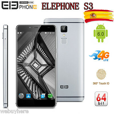 Dtouch Android6.0 OctaCore 4G 5.2¨ 1080*1920 16GB 13MP Elephone S3 Móvil Celular