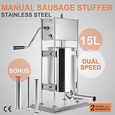 Sausage Stuffer Vertical Stainless Steel 15L/33LB 33 Pound Meat Filler On Sale