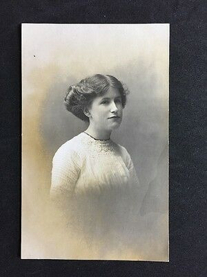 Vintage Postcard: RP Anonymous People: Woman #A40 : Pollard Graham Co
