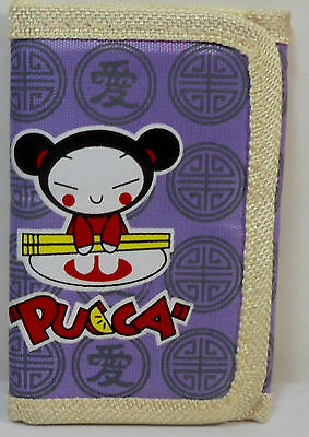 JAPANESE ANIME PUCCA 5'' SLIM WALLET w/ ZIPPER & CORD UNUSED B