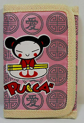 JAPANESE ANIME PUCCA 5'' SLIM WALLET w/ ZIPPER & CORD UNUSED D