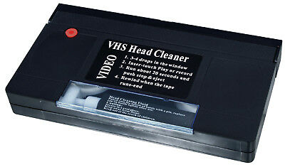 VHS VCR Cassette Tape Video Recorder Head Cleaner System Wet & Dry - BRAND NEW
