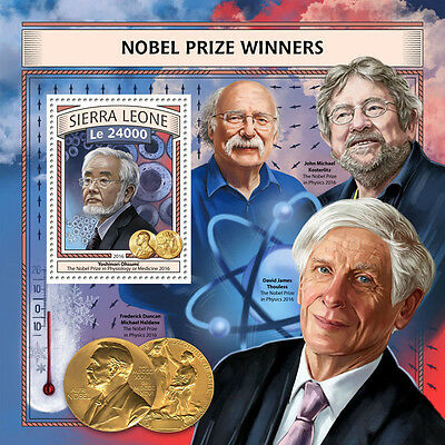 Sierra Leone 2016 MNH Nobel Prize Winners Physics Medicine 1v S/S Science Stamps