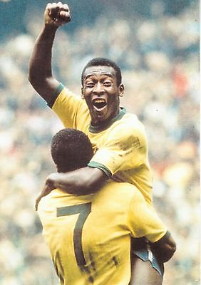 Pele Brazil Postcard 6x4 World Cup 1970 - The Guardian Collection
