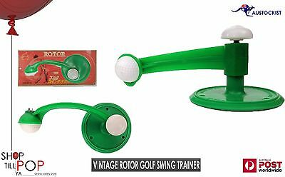 Golf Swing Trainer Rotor Japan Vintage 1970's BNIB Hooks into ground Rare