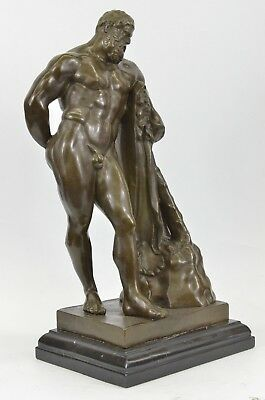 Greek Mythology Bronze FARNESE HERCULES signed Glycon Hot Cast Home Decoe Art