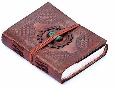 Phoenix Craft Leather Journal Bound 8x6 turquoise celtic design Handmade Diary