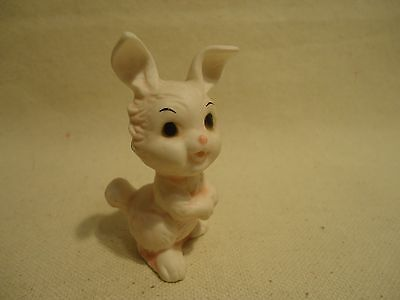 Vintage Bone China White Porcelain BUNNY RABBIT Easter Miniature Figurine Label