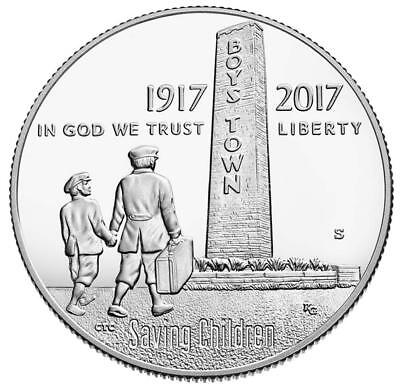 USA - 1/2 Dollar 2017 - Boys Town - 100. Jubiläum 1917-2017 - Kupfer-Nickel PP