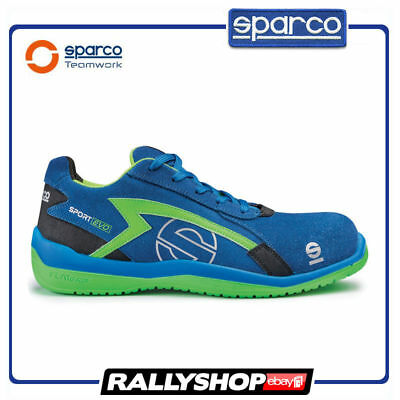 SPARCO SPORT EVO shoes Racing Boots Race Sport Rally Mechanics S3 Blue Green