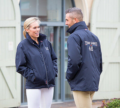 Shires Team Training Horse Riding Jacket Waterproof Warm Fleece Lined ALL SIZES