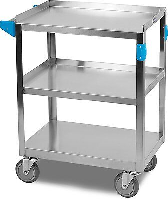 Utility Cart Stainless Steel Heavy Duty Rolling Storage Dolly Capacity Service.