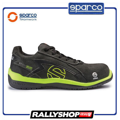 SPARCO SPORT EVO shoes Racing Boots Race Sport Rally Mechanics S3 Black Yellow