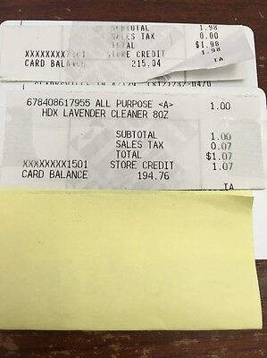 home depot store credit $409.80 For $385.00