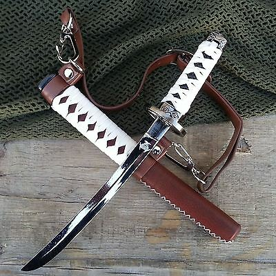 "7.5"" Walking Dead BROWN Samurai KATANA STAINLESS STEEL Letter Opener"