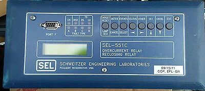 SEL-551C Schweitzer Engineering Laboratories Overcurrent Relay Reclosing Relay