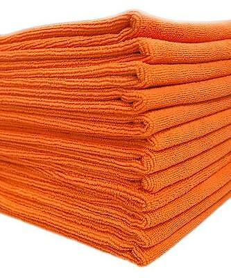 10x Orange Microfibre Cleaning Cloth Towels Car Polishing Detailing Wash Wax