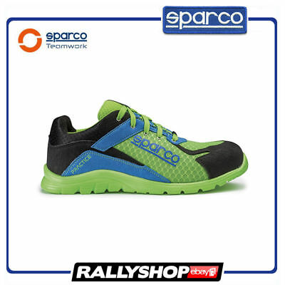 SPARCO PRACTICE shoes Racing Boots Race Sport Rally Mechanics S1P Blue Green