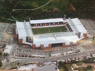 """SUPERB LARGE 12"""" x 16"""" AERIAL PHOTOGRAPH OF EWOOD PARK HOME OF BLACKBURN ROVERS"""