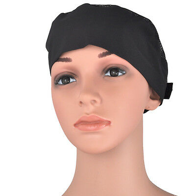 Breathable Mesh Top Skull Cap Professional Catering Chefs Hat&Adjustable Strap