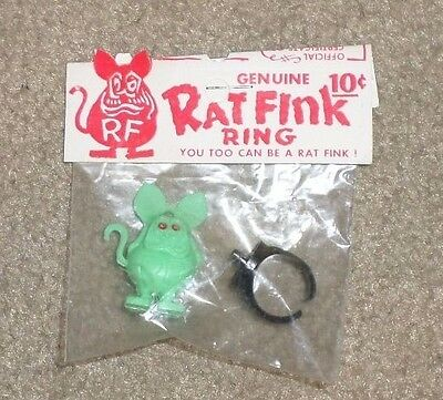 Ratfink club ring in package 1960s FREE SHIPPING