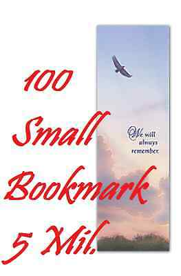 5 Mil BOOKMARK SMALL Laminating Pouch Sheets  2-1/8 x 6  100 Pack