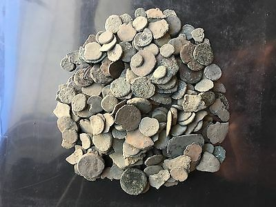 Lot of (300+) Uncleaned Ancient Coins from Judaea. All sizes!